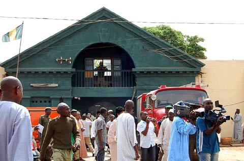The Kaduna Central Prison in the early hours of Tuesday.