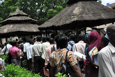 File photo: Unemployed youths at Alausa, Ikeja