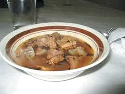 A plate of pepper soup