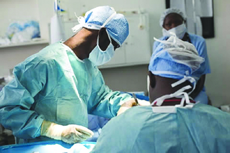 File photo: Surgeons at work