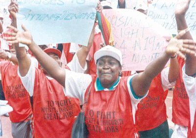 NLC members calling for an end to job insecurity