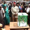 Nigerians at a polling station