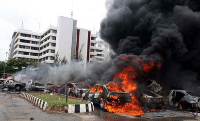 *The Nigeria Police Force Headquarters' suicide bomb attack