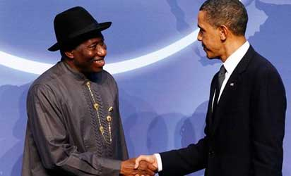 United States President Barack Obama and President Goodluck Jonathan