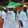 Let the Games begin••• Nigerian athletes file out during the opening of the 10th All-Africa Games in Maputo weekend (September 3, 2011) after President of Mozambique Armando Guebuza opened the games at Zimpeto National Stadium. Mozambique are expecting 5,000 men and women from 48 countries to compete in 24 sports.  AFP PHOTO