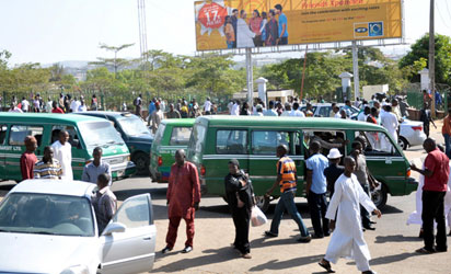 Stranded passengers as commercial drivers protest in Abuja.