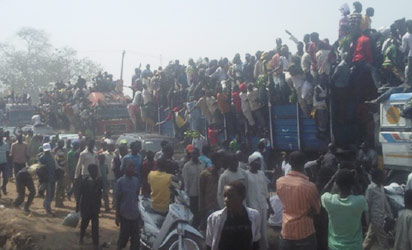 File photo: Protesters in Kaduna.