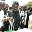 President Goodluck Jonathan and Gov. Gabriel Suswam of Benue State at the Commissioning of Otobi Water Project during the President Visit. Photos--state House.