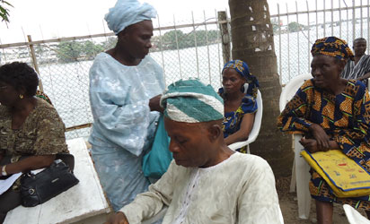 File photo: Some pensioners  at a meeting over their plight in Lagos