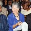 L-R Prof.wole Soyinka, Prof.Graciana Del Castillo of Columba University and Mr.Jim Ovia Chairman Visa Phone Nigeria Ltd, Photos Nath Onojake and Akpokona Omafuaire