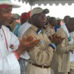 Gov Oshiomhole, 2nd left, during his campaign