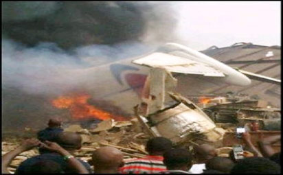 File Photo: Dana air crash fire