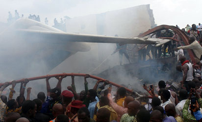 File photo: a scene of plane crashed