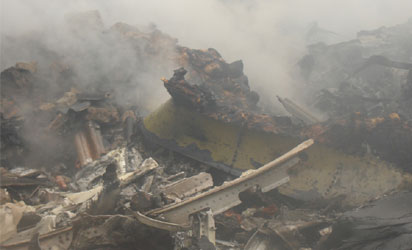 Plane Wreckage http://newsofafrica.org/2012/06/nigeria-jonathan-declares-3-days-of-mourning-for-plane-crash-victims.html