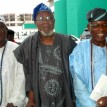 From left:  Oba Adedayo Olaloko Shobekun, Alhaji Kola Animasaun, and Engr Abiodun Adenekan, during the public presentation/ launching of the Voice of Reason Volume 2, by Alhaji Kola Animasaun, in Lagos. Photo: Kehinde Gbadamosi