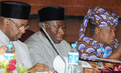 Only in Nigeria that crude oil is stolen –  President Jonathan 1
