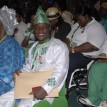 Cross section of 2012 London Paralympics gold winners sitting among awardees after their decoration  with the MON award at the 2012 National Honours Award Investiture ceremony at the International Conference Centre, Abuja. Photo by Abayomi Adeshida 17/09/2012