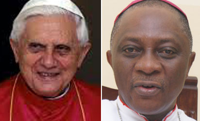 Pope Benedict XVI and Archbishop Adewale Martins of Lagos Metroplitan See