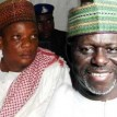 Sacked speaker, Bello (r) ponders his future as Wada smiles