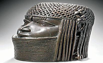 *Commemorative head of an Oba, Benin, Nigeria, now in Museum of Fine Arts, Boston, USA