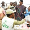 Mimiko during accreditation, Saturday, in Ondo.