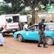 A BOMB EXPERT CHECKING A VEHICLE ON FRIDAY AT INEC OFFICE, AKURE, AHEAD OF SATURDAY'S GUBERNATORIAL ELECTION IN ONDO STATE ON FRIDAY (19/10/12).