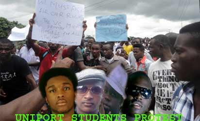 UNIPORT 4: Uniport Students On Rampage, Set Omuokiri-Aluu Ablaze