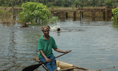 Flooded part of Oguta