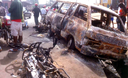 EDO TANKER FIRE: My Husband Was Burnt To Death While Trying To Protect His Bus – Widow Of Bus Driver