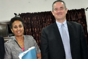 Mr. Jeffery J. Hawkins, United State Consul General Lagos and Mrs. Dehab Ghebreab, Public Affairs Officer, United States Consulate General Lagos