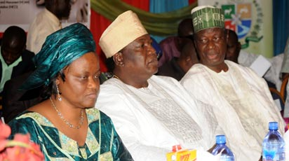 *Chief Edem Duke, Tourism and Culture Minister (m) and others at NICO event