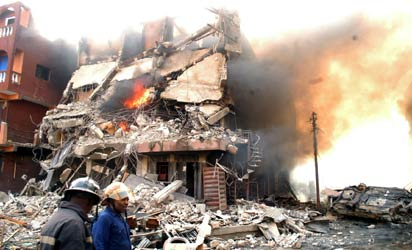 *45, Ojogiwa Street, Jankara area of Idumota market, Lagos, razed by firecrackers, December 26.         