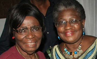 Finance Minister, Ngozi Okonjo Iweala and her released mother, Prof. Kamene Okonjo