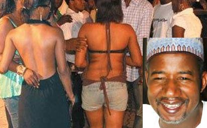 Some prostitutes. Inset: FCT Minister, Bala Mohammed