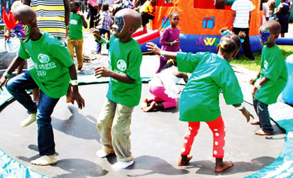 FUN FARE: Children celebrating during Christmas break