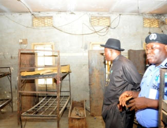 Jonathan in a Police college hostel