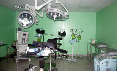 Operating theatre of Kelsey Harrison Hospital, formerly New Niger Hospital