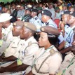 Senior Nigerian Immigration Service officers participating at the official opening of the National Summit on Security Challenges in Nigeria at the African Hall, International Conference Centre, Abuja. Photo: Abayomi Adeshida