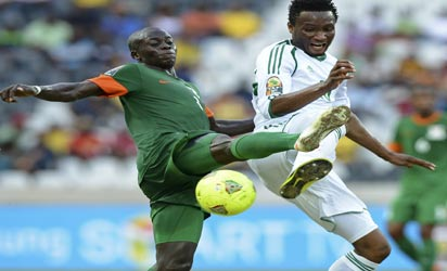 Nigeria throw away lead to draw with Zambia