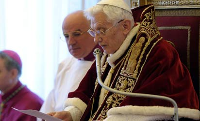 Pope Benedict XVI AFP Photo.