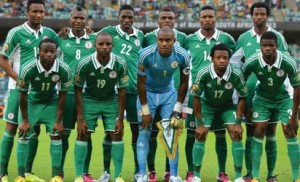 File photo: Nigerian players pose prior to the 2013 African Cup of Nations semi-final football match Mali vs Nigeria AFP PHOTO