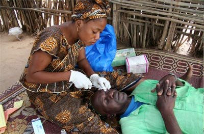 File photo: A community health practitioners at work