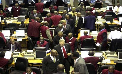 *Stock exchange floor