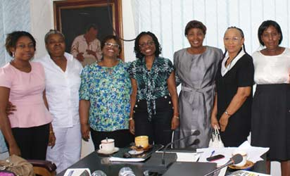 Roundtable conference on Child Nutrition held at Vanguard Head office, Lagos on Thursday. Pix from left Mrs Umego Adaora, Ms Flora Archibong; Mrs Ogochukwu Mainasara representing DG NAFDAC; Mrs Iquo Ukoh, Marketing services Director, Nestle Foods; Mrs Funmi Ajumobi, Kiddies Editor, Vamnguard and Dr Chika Ndiokwelu